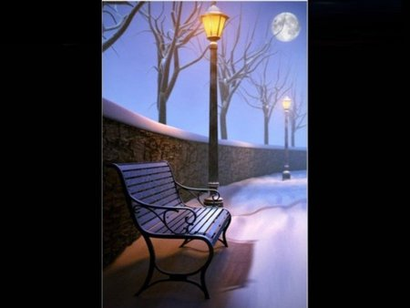snow lamp